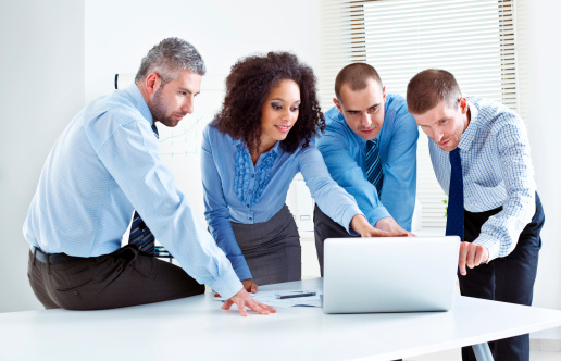 Discussing Project Stock Photo - Download Image Now