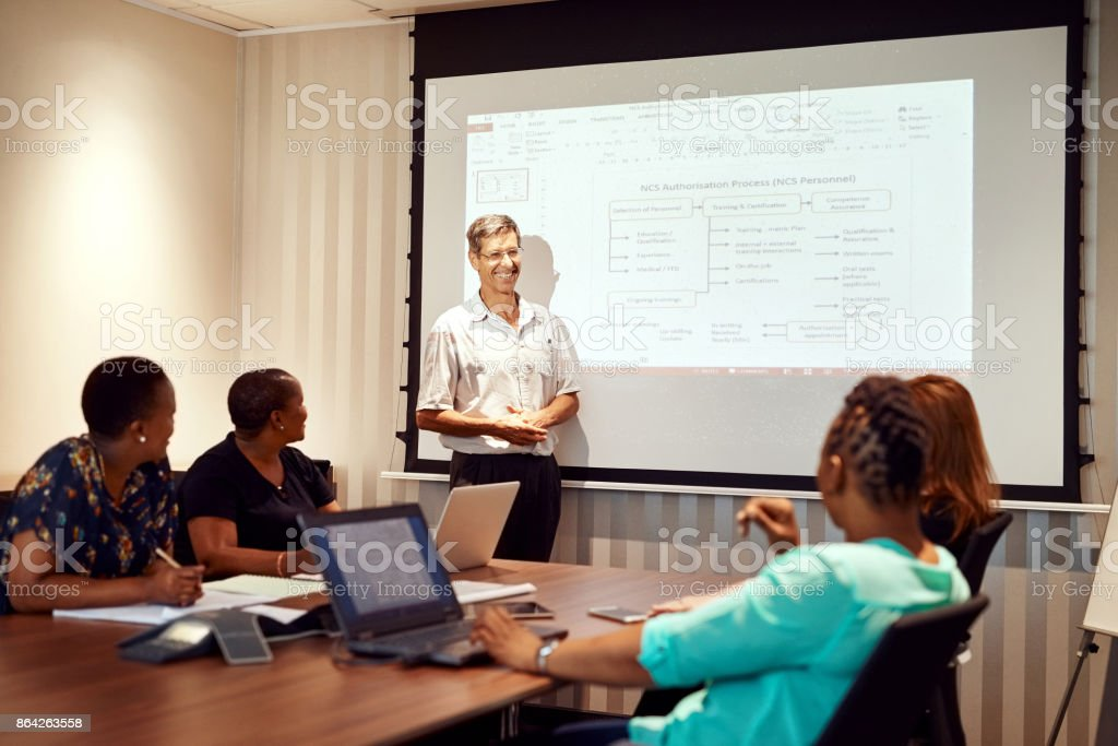 Discussing the future of the business royalty-free stock photo
