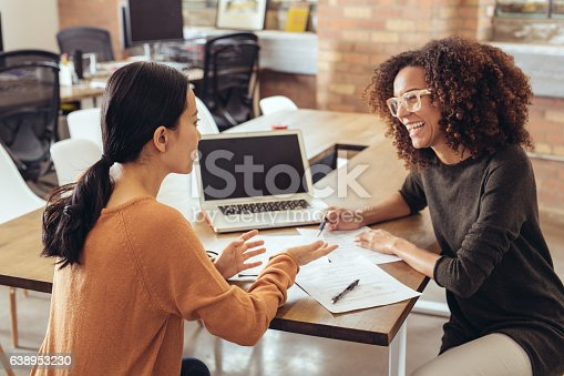 istock Discussing the new marketing strategy 638953230