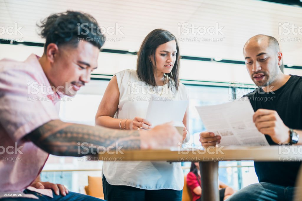 Discussing the new strategy. stock photo