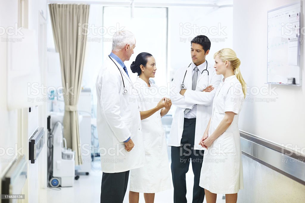 Discussing the running of their ward royalty-free stock photo