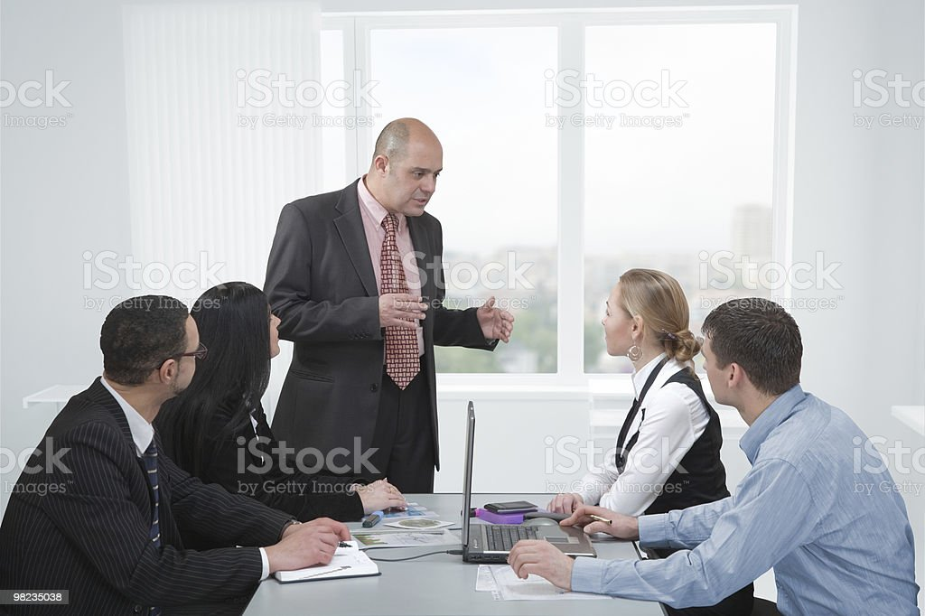 Discussion in a meeting royalty-free stock photo