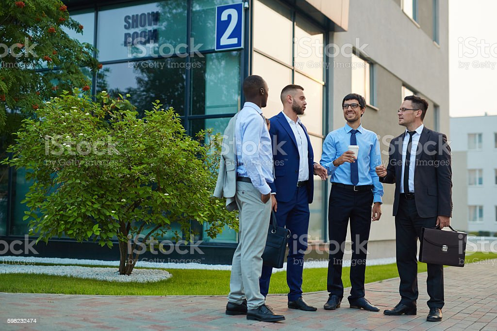 Discussion of businessmen foto royalty-free