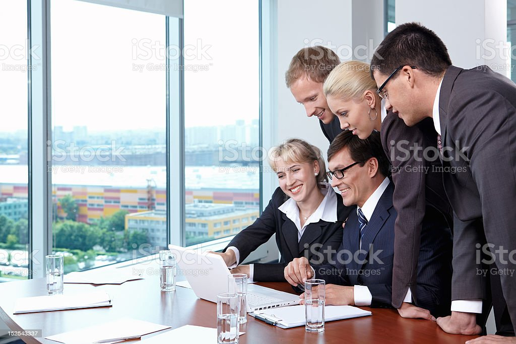 Discussion of sales royalty-free stock photo