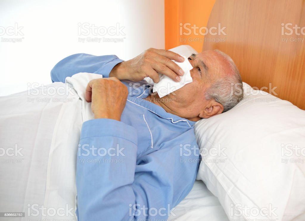 Disease in the aging stock photo