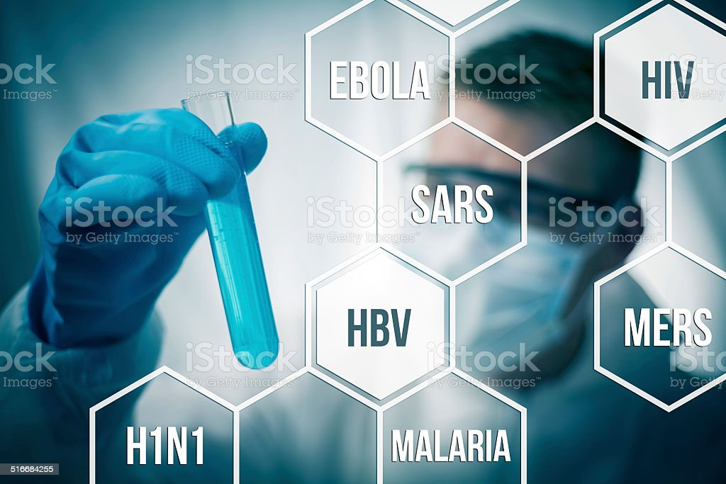 Disease research stock photo