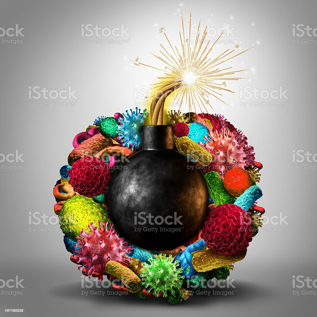 Disease Time Bomb stock photo
