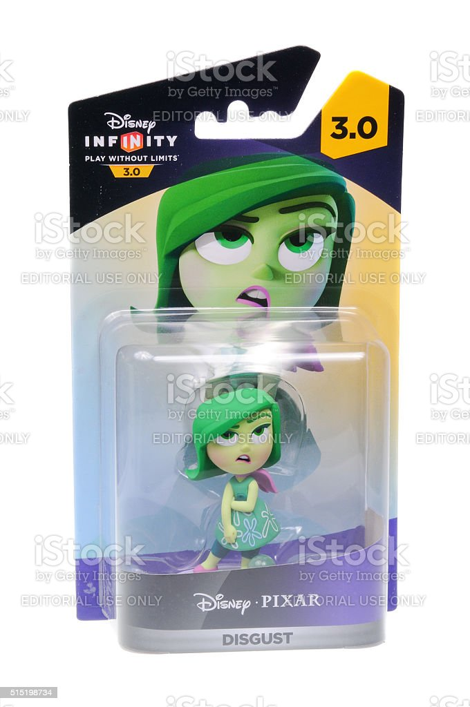 Disgust Disney Infinity 3.0 Figurine stock photo