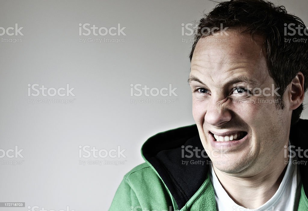 disgusted man royalty-free stock photo