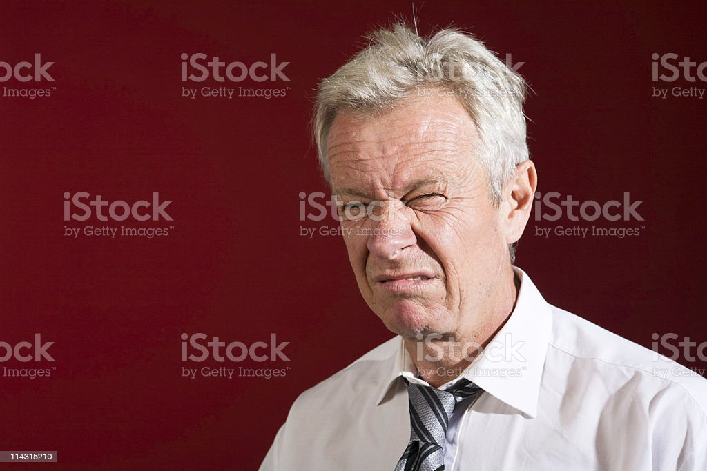 Disgusted royalty-free stock photo