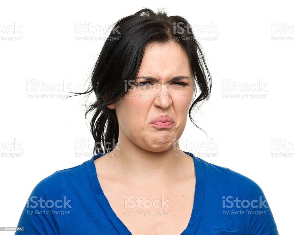 Disgusted Woman stock photo