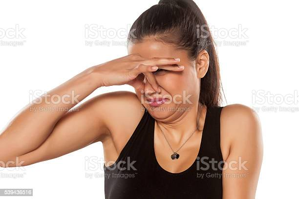 Disgusted Woman Stock Photo - Download Image Now