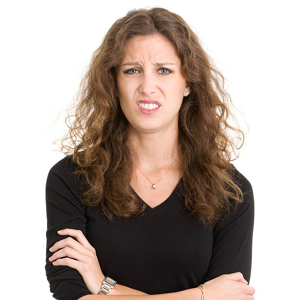 Disgusted Young Woman stock photo