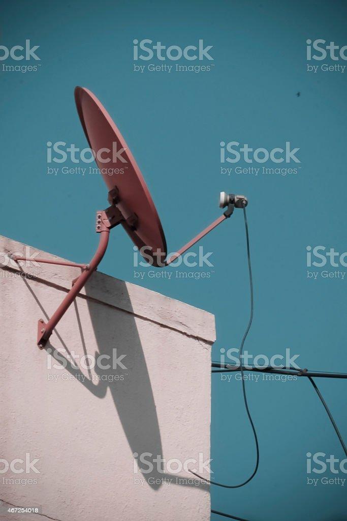 Dish antenna stock photo