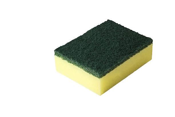 Dish cleaning sponge stock photo