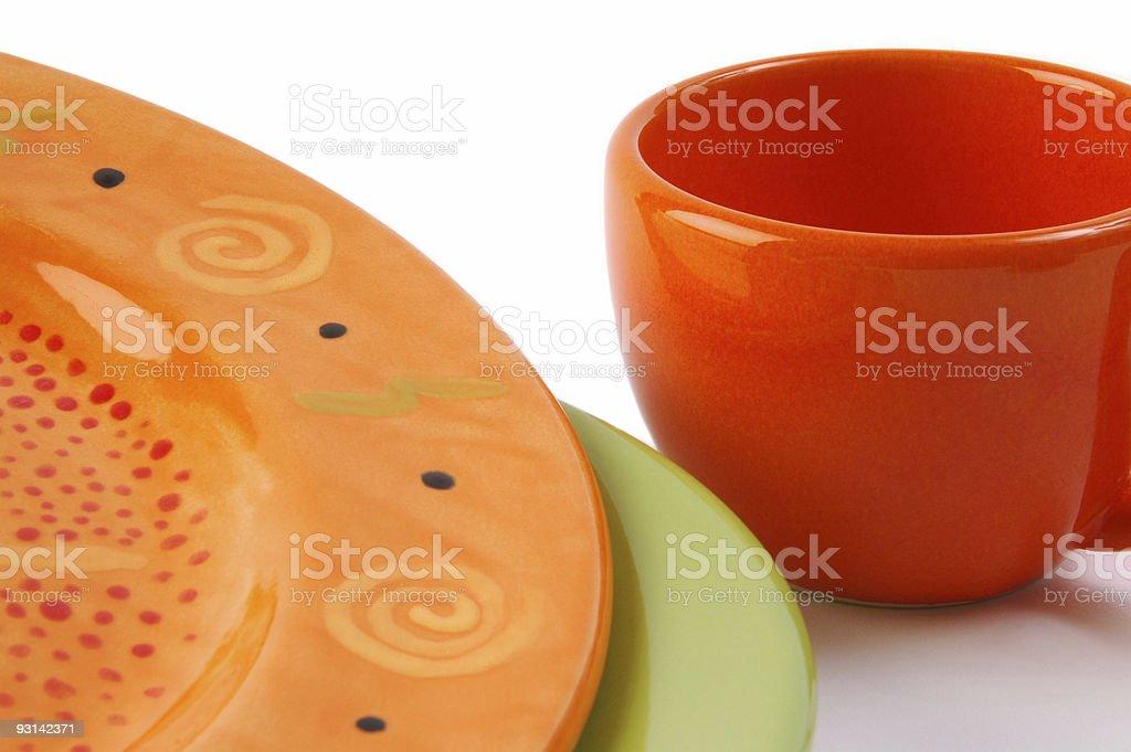 Dish Colors 8 royalty-free stock photo