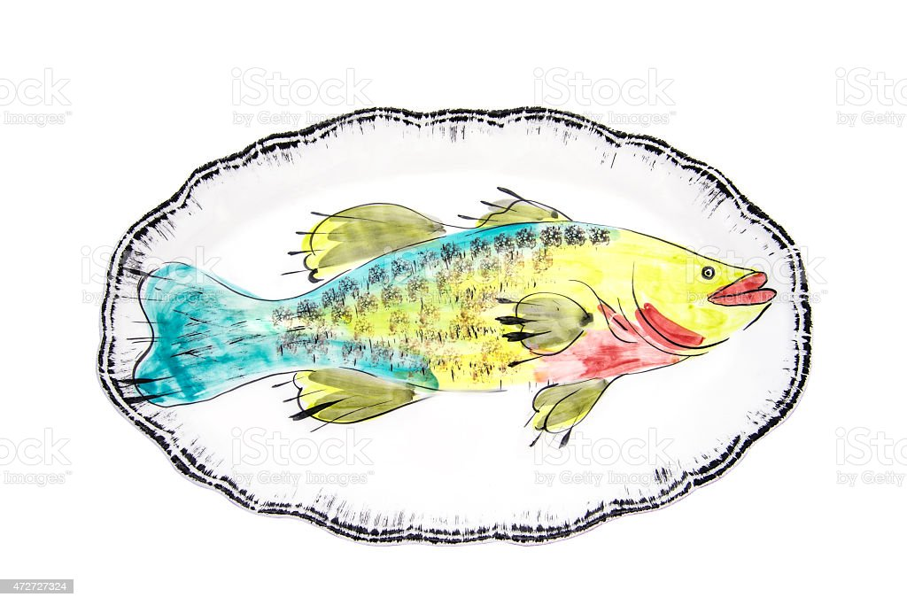 dish for fish stock photo