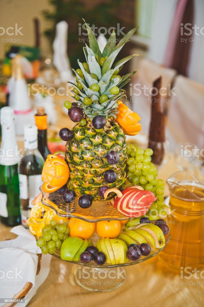 Dish from fruit 1709. stock photo