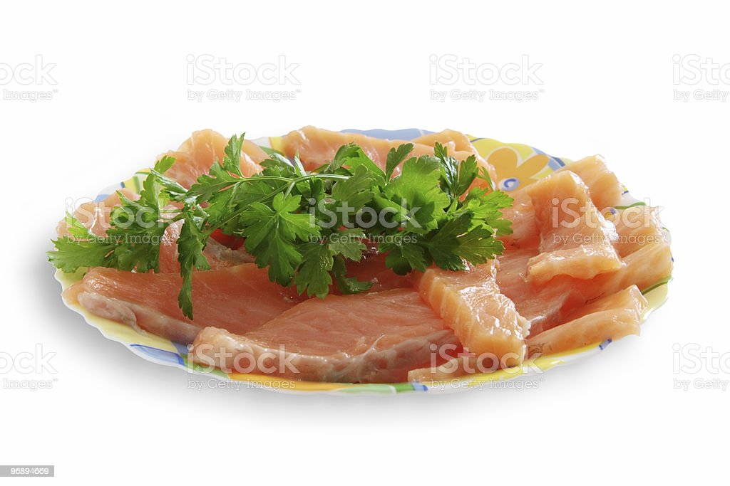 Dish from the salmon royalty-free stock photo