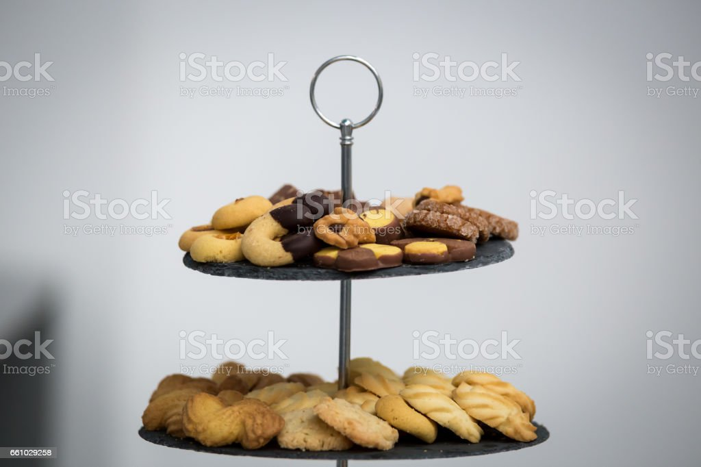 A dish full of cookies royalty-free stock photo