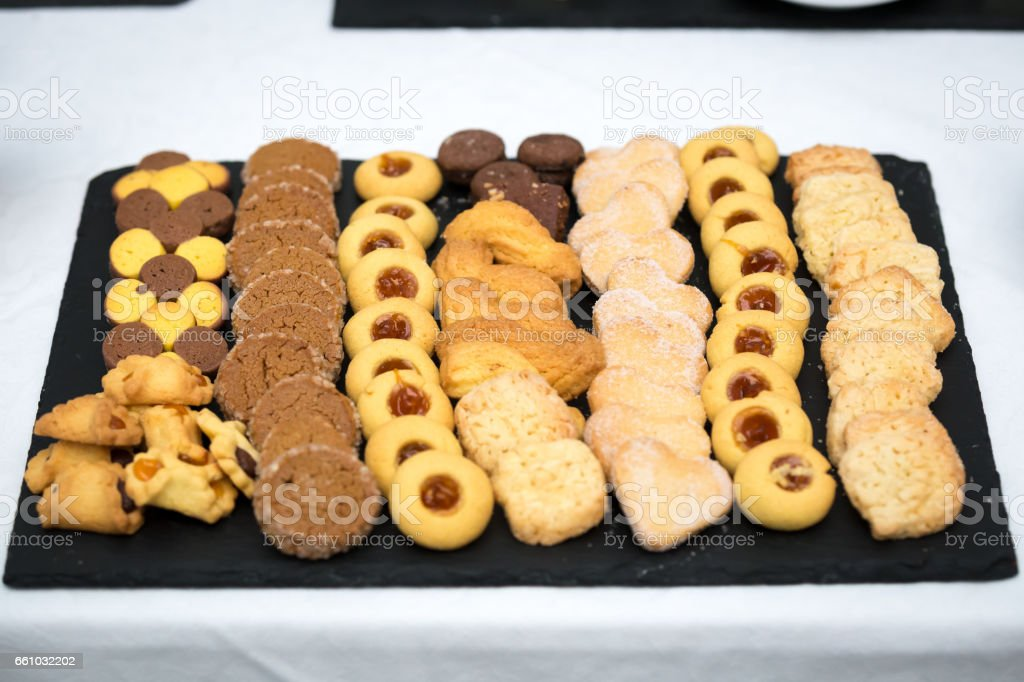 A dish full of cookies - Royalty-free Appetizer Stock Photo