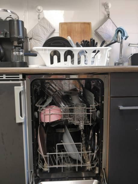 Dish in dishwasher stock photo