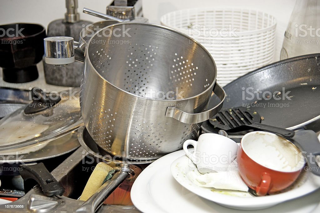 dish in sink royalty-free stock photo