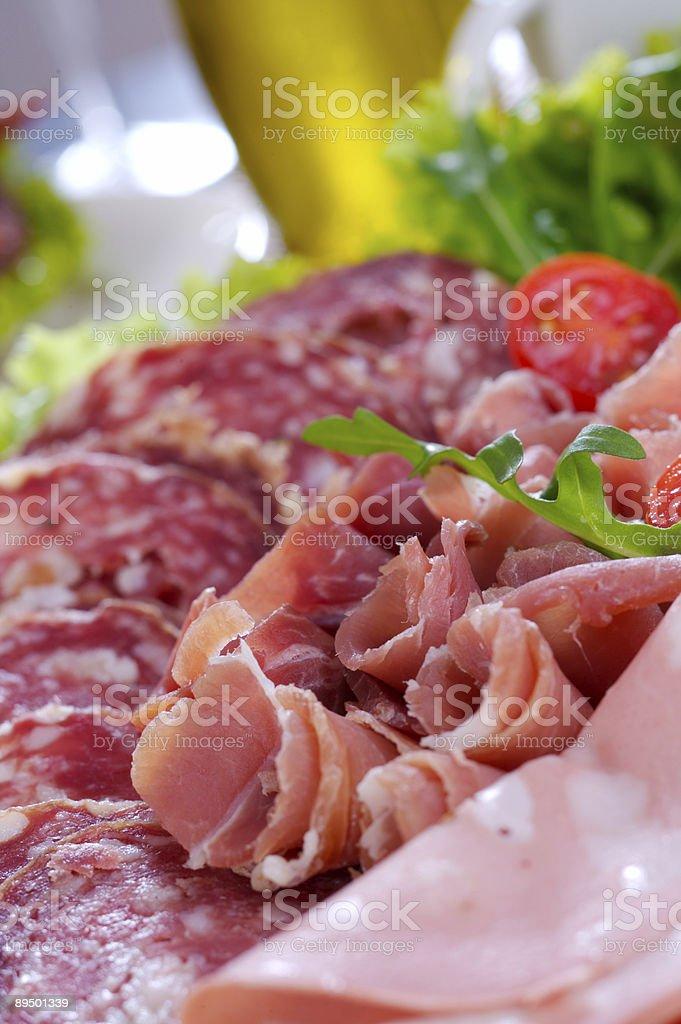 Piatto di salumi italiani foto stock royalty-free
