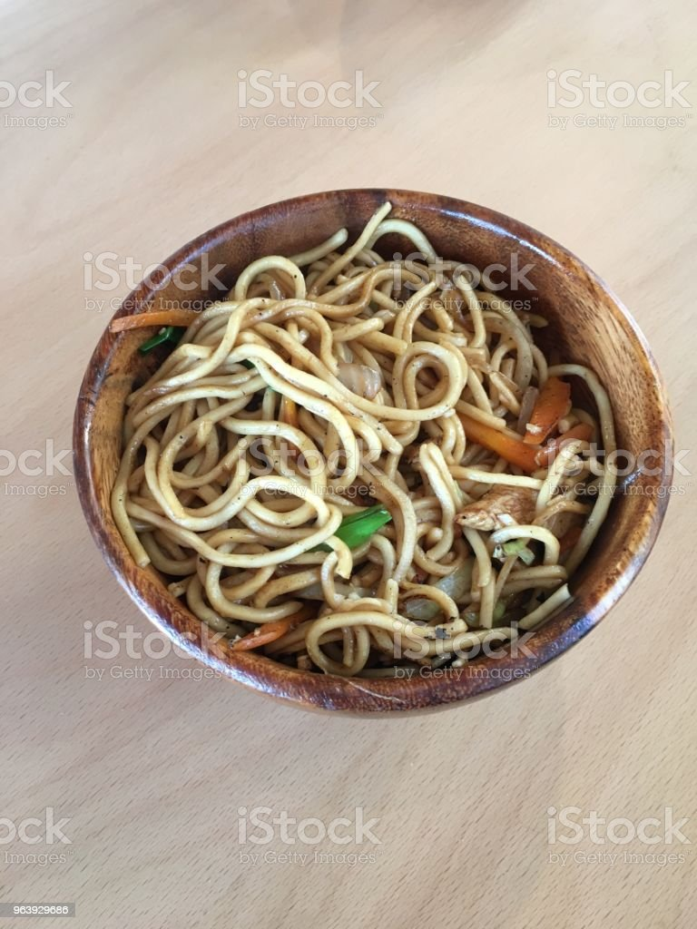 A Dish of Noodle in a Japanese Restaurant - Royalty-free Chinese Food Stock Photo