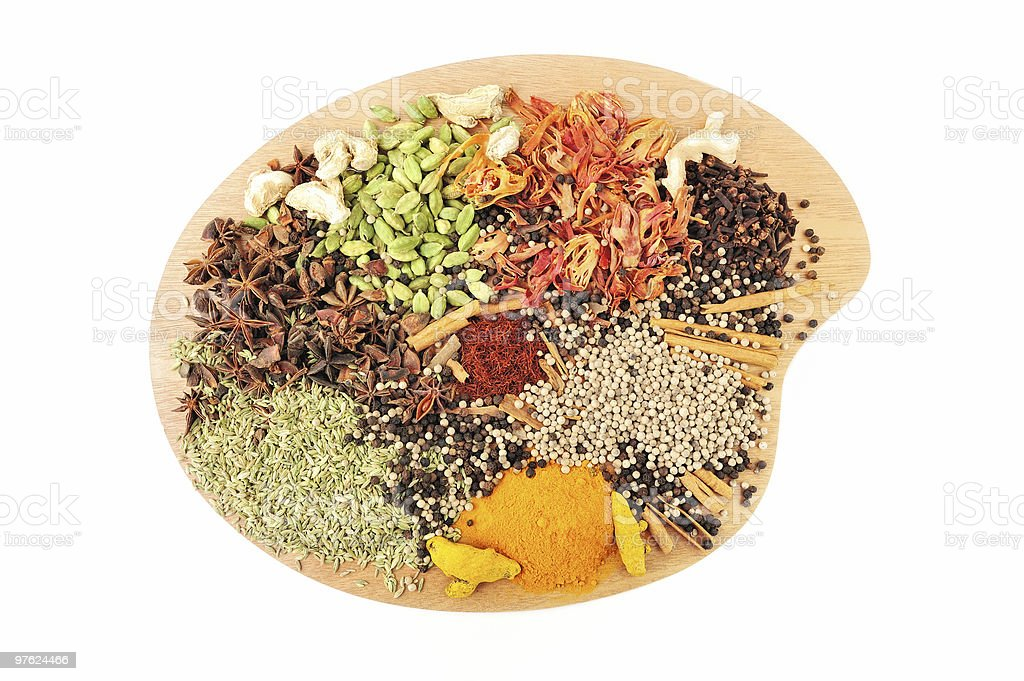 Dish of Spices royalty-free stock photo