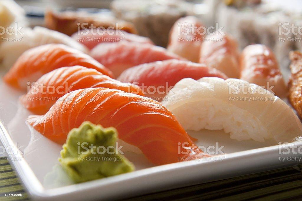 Dish of sushi royalty-free stock photo