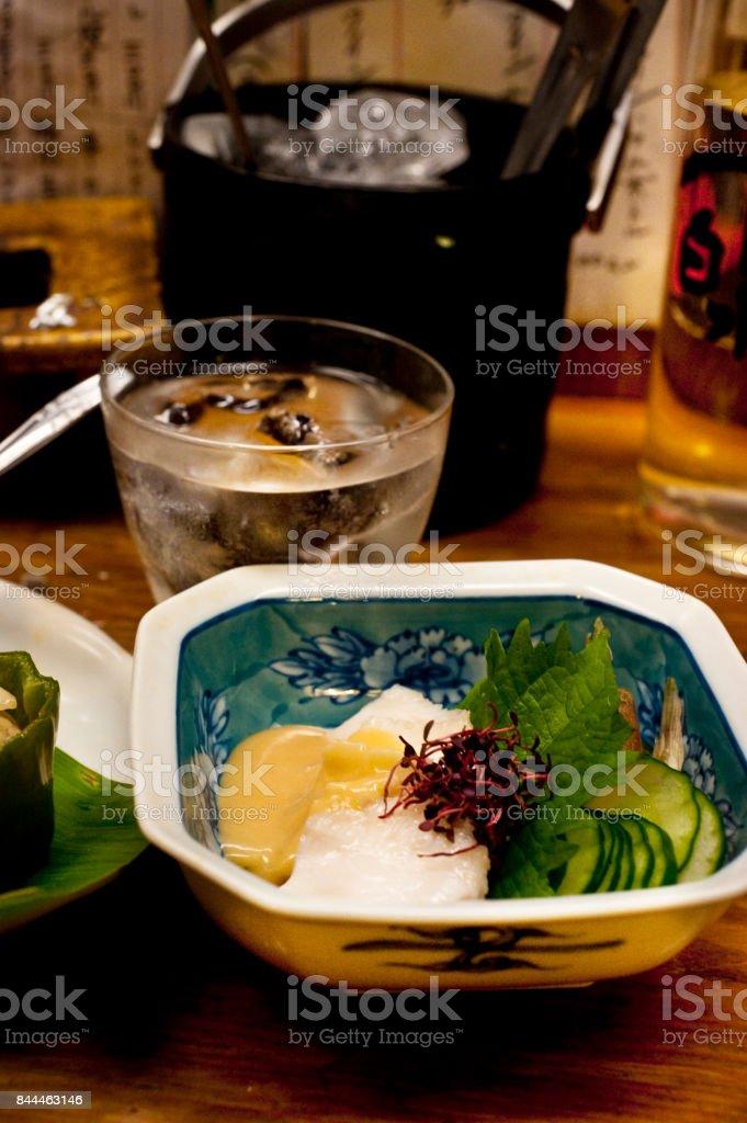 Dish of the ocean Sunfish stock photo