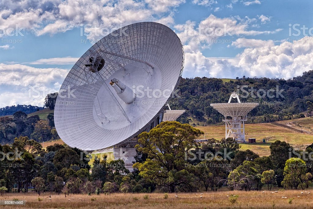 CAN Dish paddock tele close stock photo