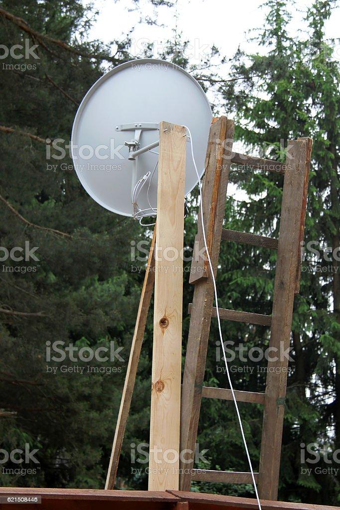 TV dish photo libre de droits