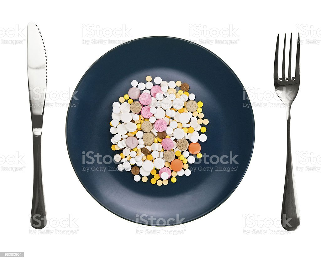 Dish with pills royalty-free stock photo