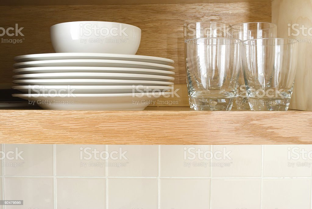 Dishes and Glasses royalty-free stock photo