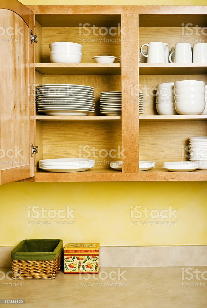 Dishes In the Cabinet royalty-free stock photo