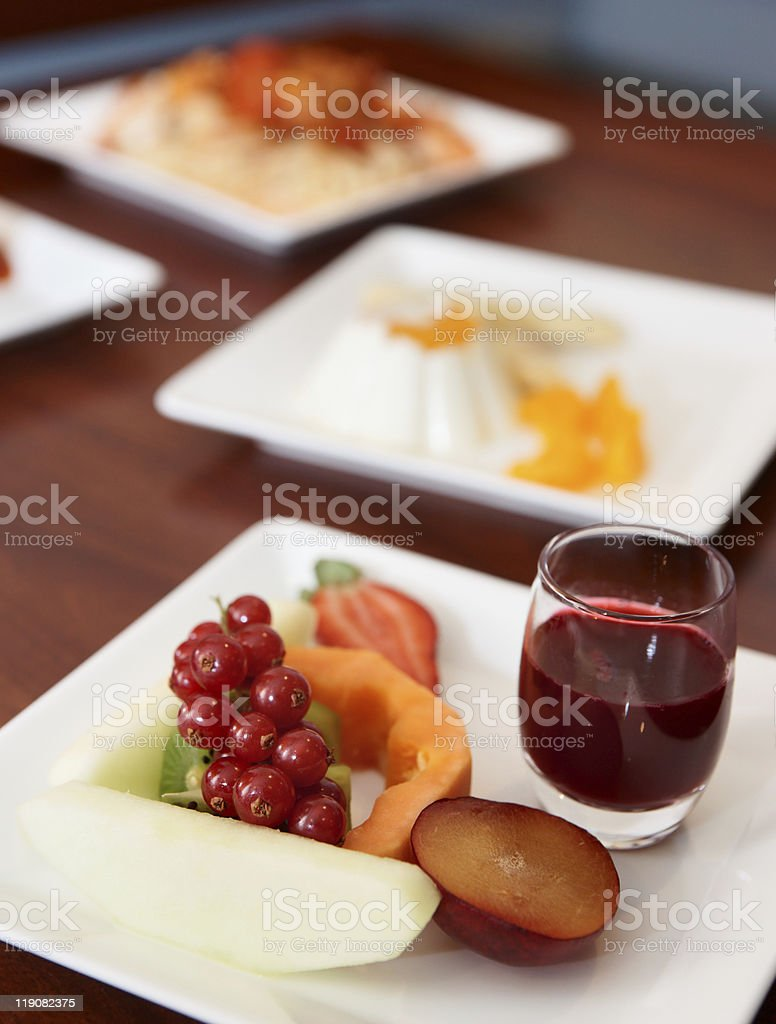 Dishes on banquet table royalty-free stock photo