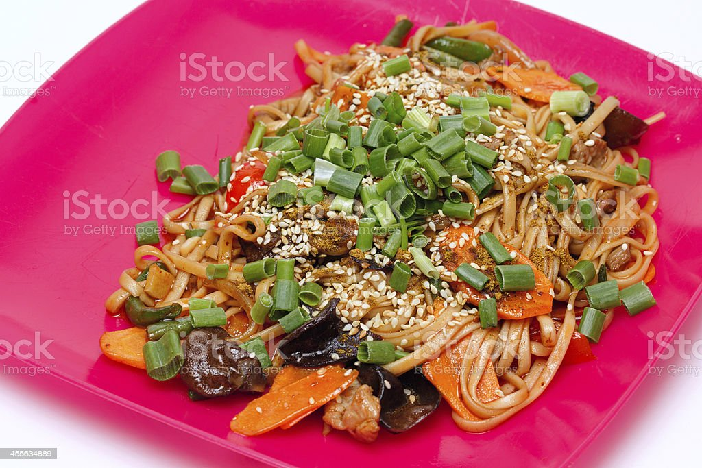 Dishes Wok stock photo