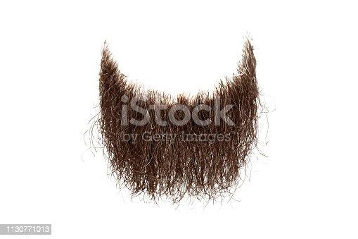 istock Disheveled brown beard isolated on white background 1130771013