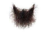 istock Disheveled brown beard isolated on white. Mens fashion 1208149775