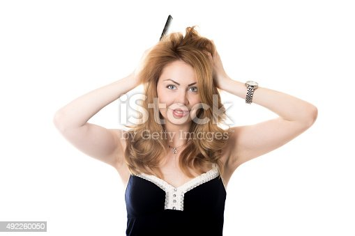 istock Disheveled young woman 492260050