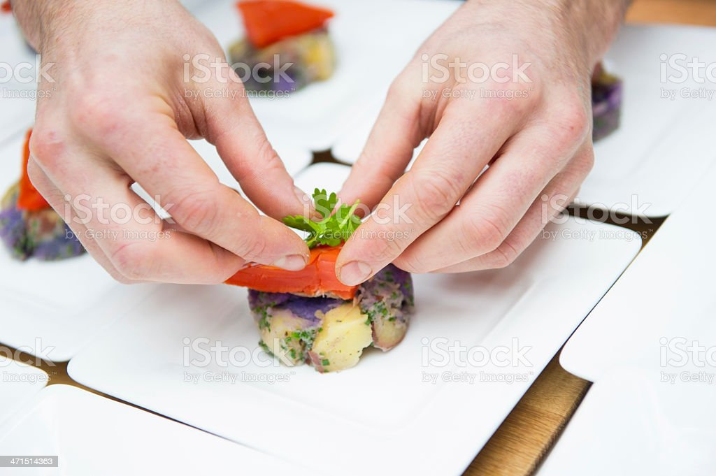Dishing Up stock photo