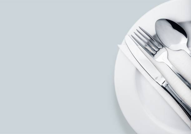 dishware. - table knife stock photos and pictures