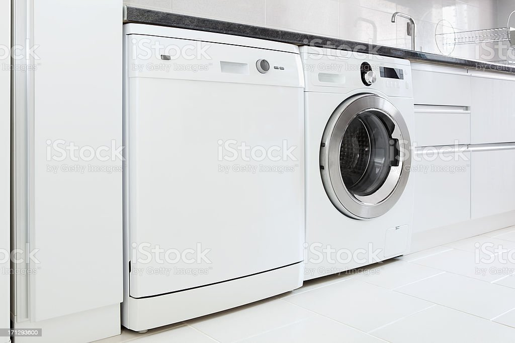 dishwasher and washing machine stock photo