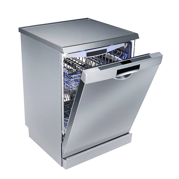 Dishwasher (isolated with clipping path over white background)  dishwasher stock pictures, royalty-free photos & images