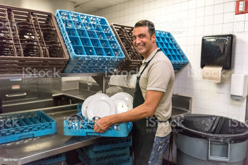 Dishwasher royalty-free stock photo