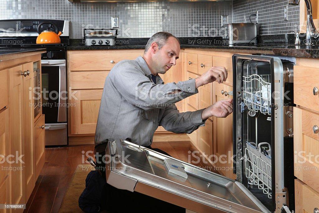 Dishwasher Repair royalty-free stock photo