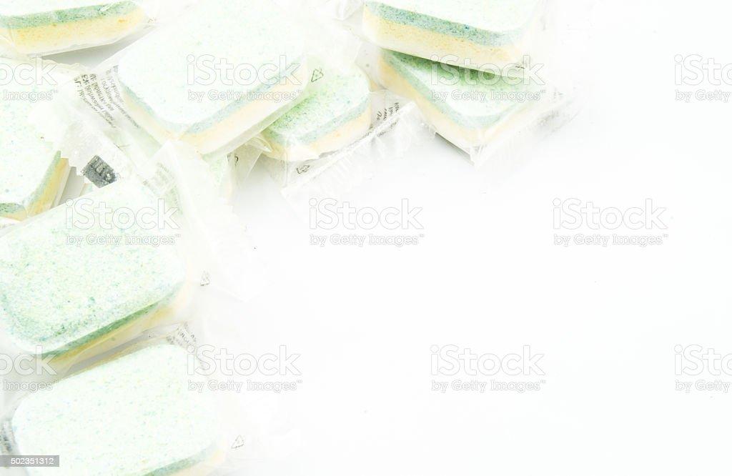 dishwasher tablets stock photo