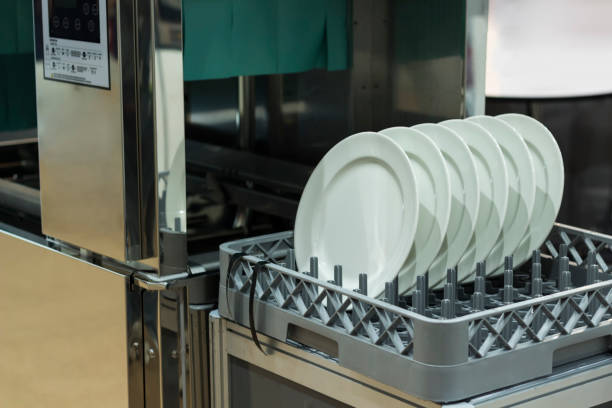 dishwasher with clean dishes dishwasher with clean dishes, selective focus dishwasher stock pictures, royalty-free photos & images